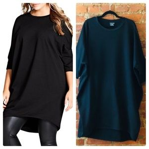 City Chic Oversized Knit Tee
